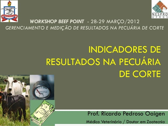 WORKSHOP BEEF POINT - 28-29 MARÇO/2012GERENCIAMENTO E MEDIÇÃO DE RESULTADOS NA PECUÁRIA DE CORTE                      INDI...