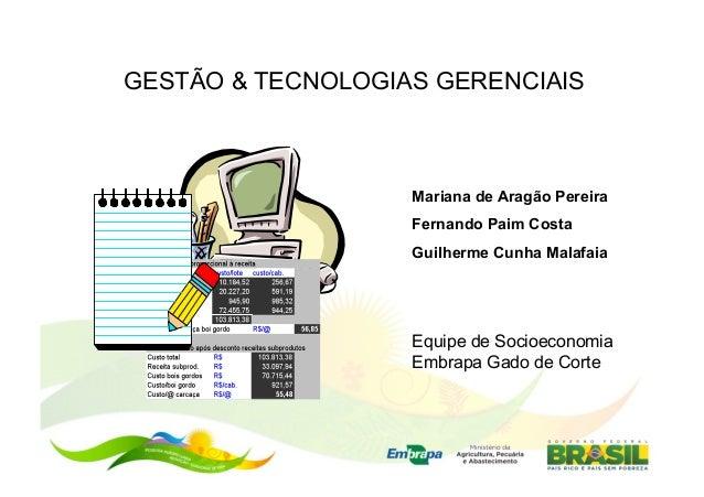 GESTÃO & TECNOLOGIAS GERENCIAIS                   Mariana de Aragão Pereira                   Fernando Paim Costa         ...