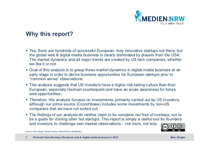 Why this report? Yes, there are hundreds of successful European, truly innovative startups out there, but   the global w...