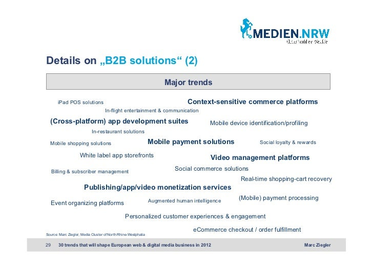 """Details on """"B2B solutions"""" (2)                                                                      Major trends       iPa..."""