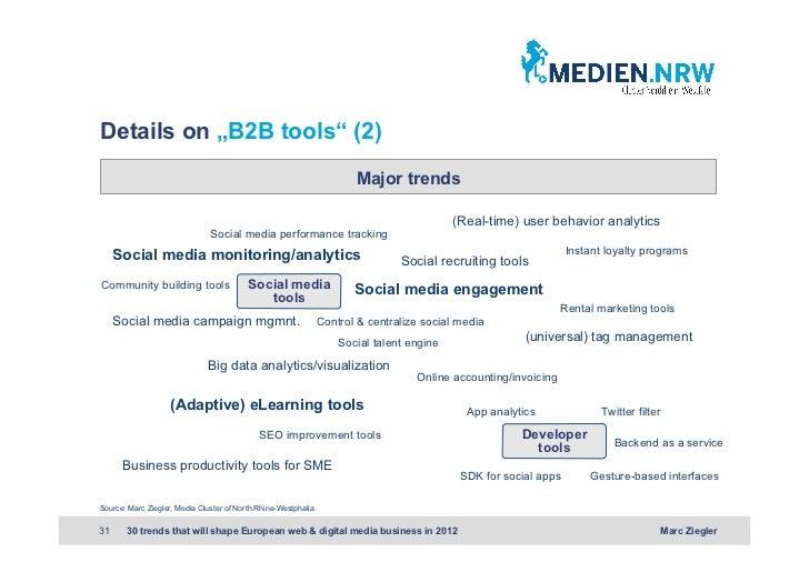 "Details on ""B2B tools"" (2)                                                                       Major trends             ..."