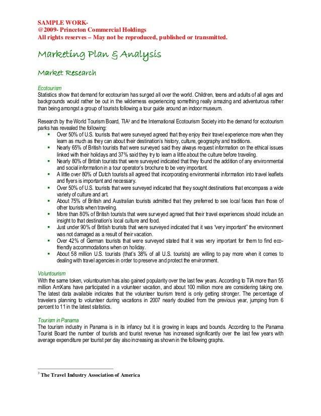 advernture park business plan rh slideshare net Sample of Good Business Plan Tour Guide Business Plan