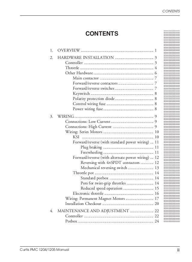 curtis pmc 1204/1205 manual