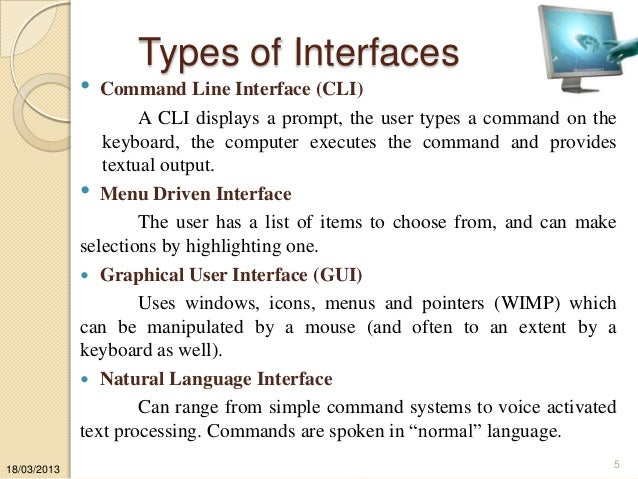 Different Computer Interfaces