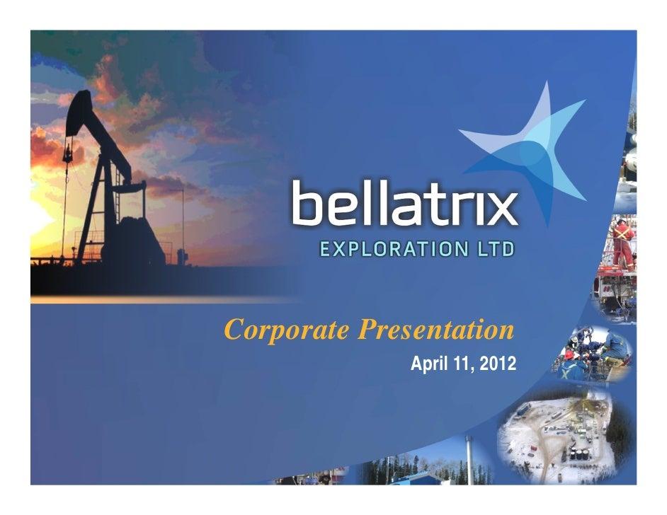 Corporate Presentation                  April 11, 20121                                  1
