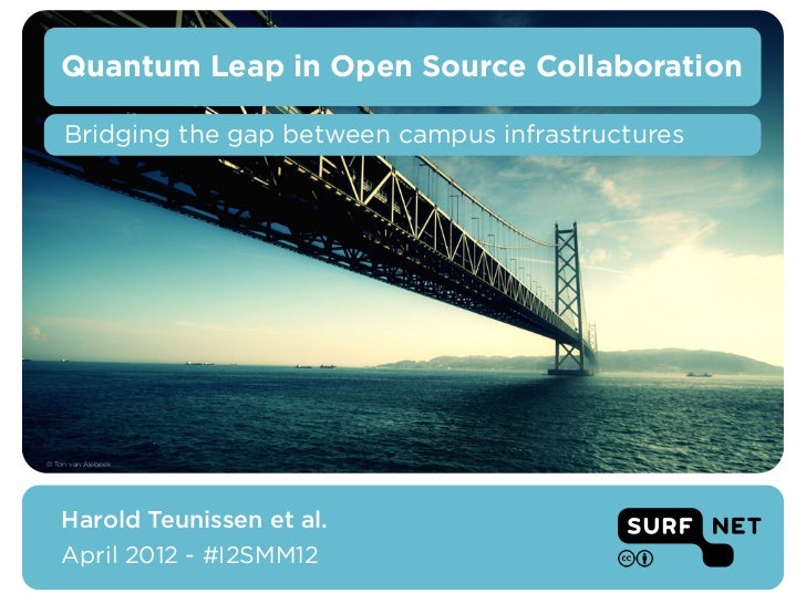 Quantum Leap in Open Source Collaboration    Bridging the gap between campus infrastructures© Ton van Alebeek   Harold Teu...