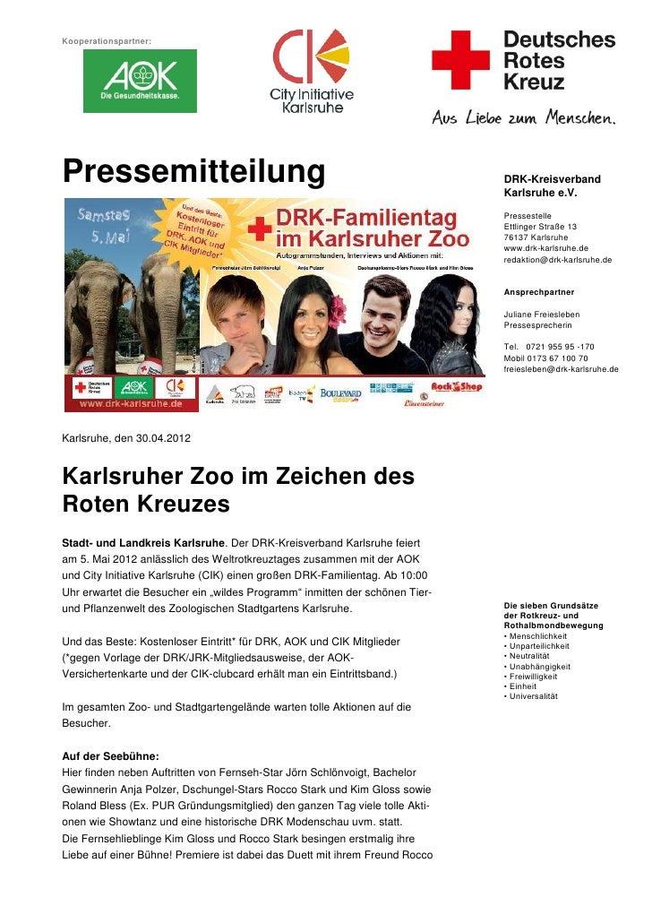 Kooperationspartner:Pressemitteilung                                                             DRK-Kreisverband         ...