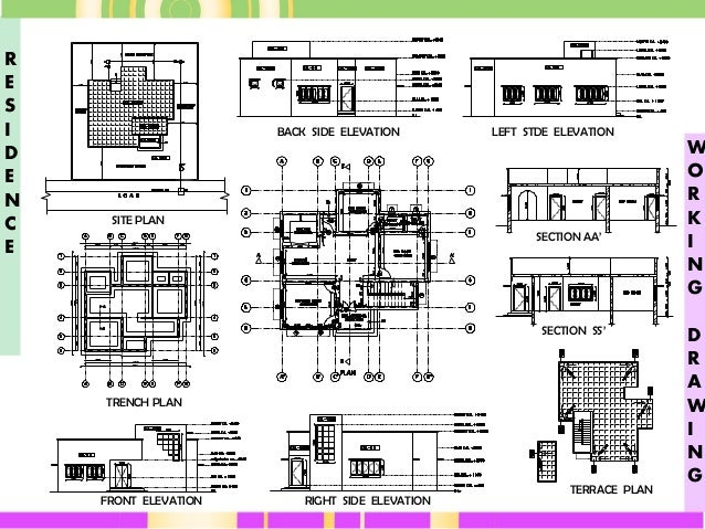 House plans sections elevations pdf - House and home design