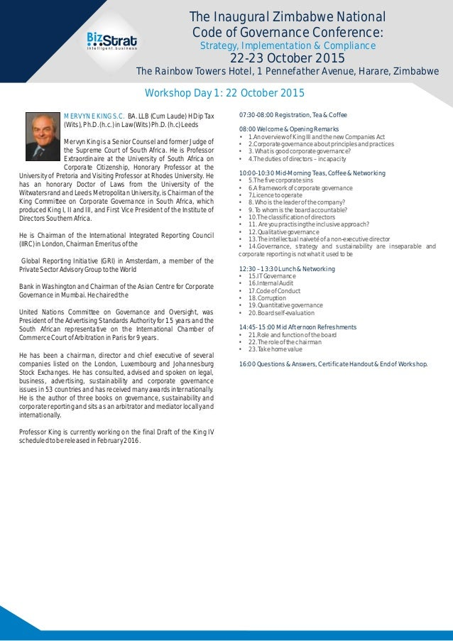 good governance research topics