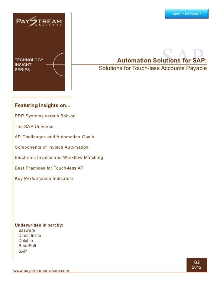 TECHNOLOGYINSIGHTSERIES                                                             SAP                                   ...
