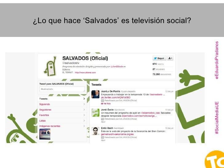"""¿Qué es la """"Televisión social""""...  o #SocialTV?  Slide 3"""