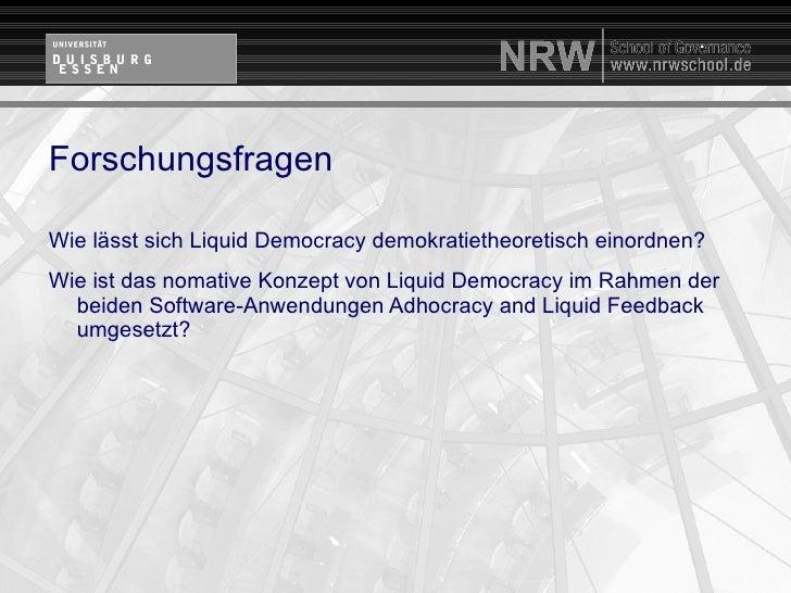 """Promotionsvorhaben """"Liquid Democracy"""""""