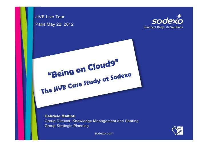 JIVE Live TourParis May 22, 2012    Gabriele Maltinti    Group Director, Knowledge Management and Sharing    Group Strateg...