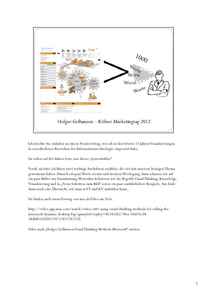 Ich möchte Sie einladen zu einem Praxisvortrag, wie ich in den letzten 12 Jahren Visualisierungenin verschiedenen Bereiche...