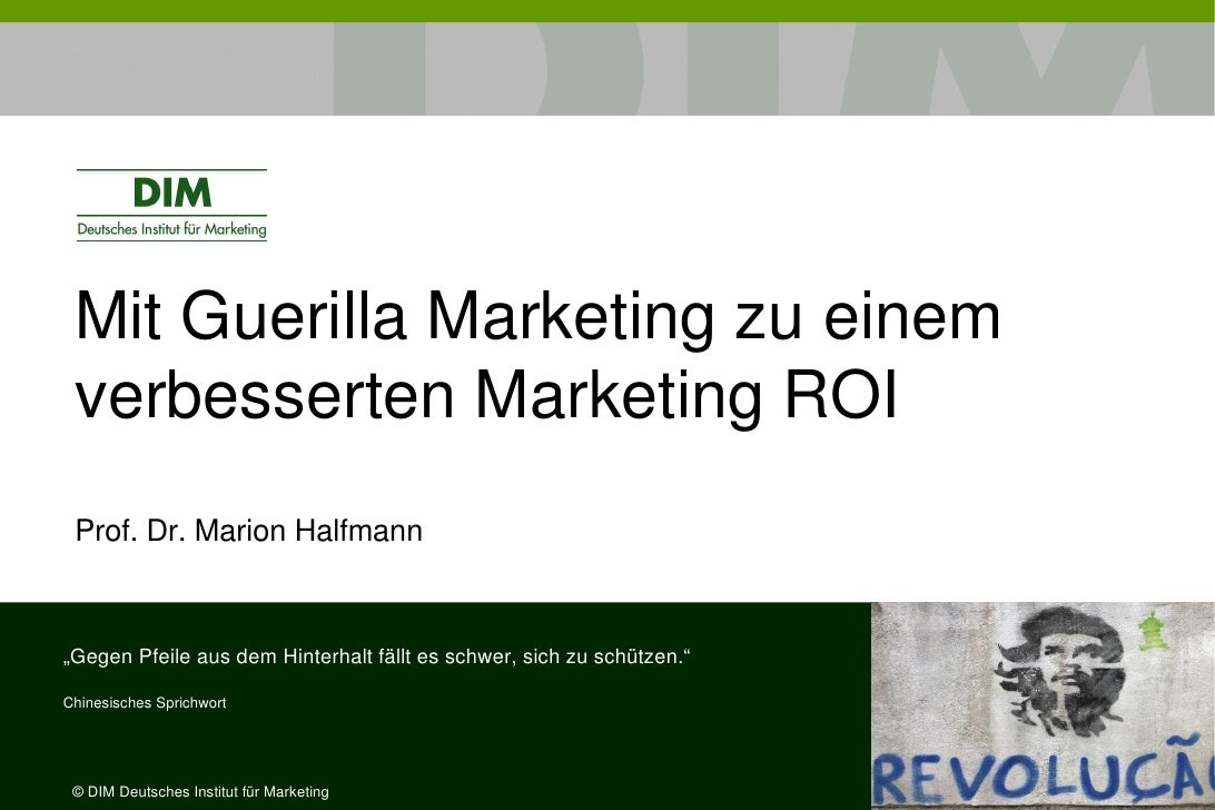mit guerilla marketing zu einem verbesserten marketing roi Guerrilla Marketing Book Guerrilla Marketing Campaigns
