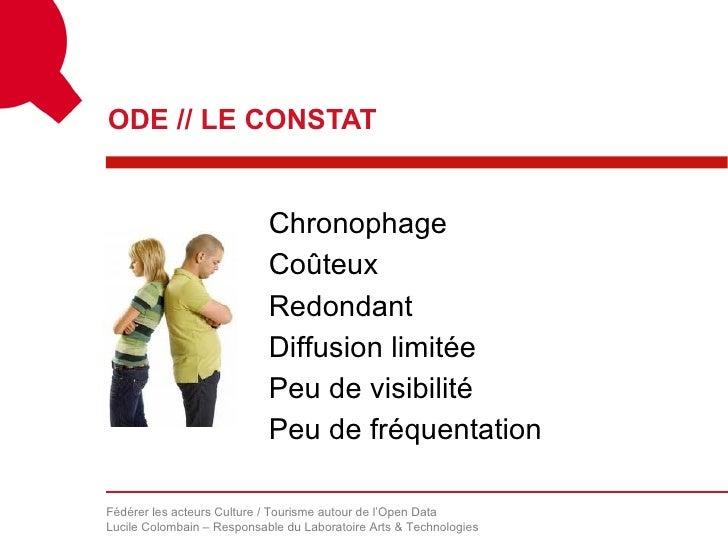 ODE // LE CONSTAT                            Chronophage                            Coûteux                            Red...