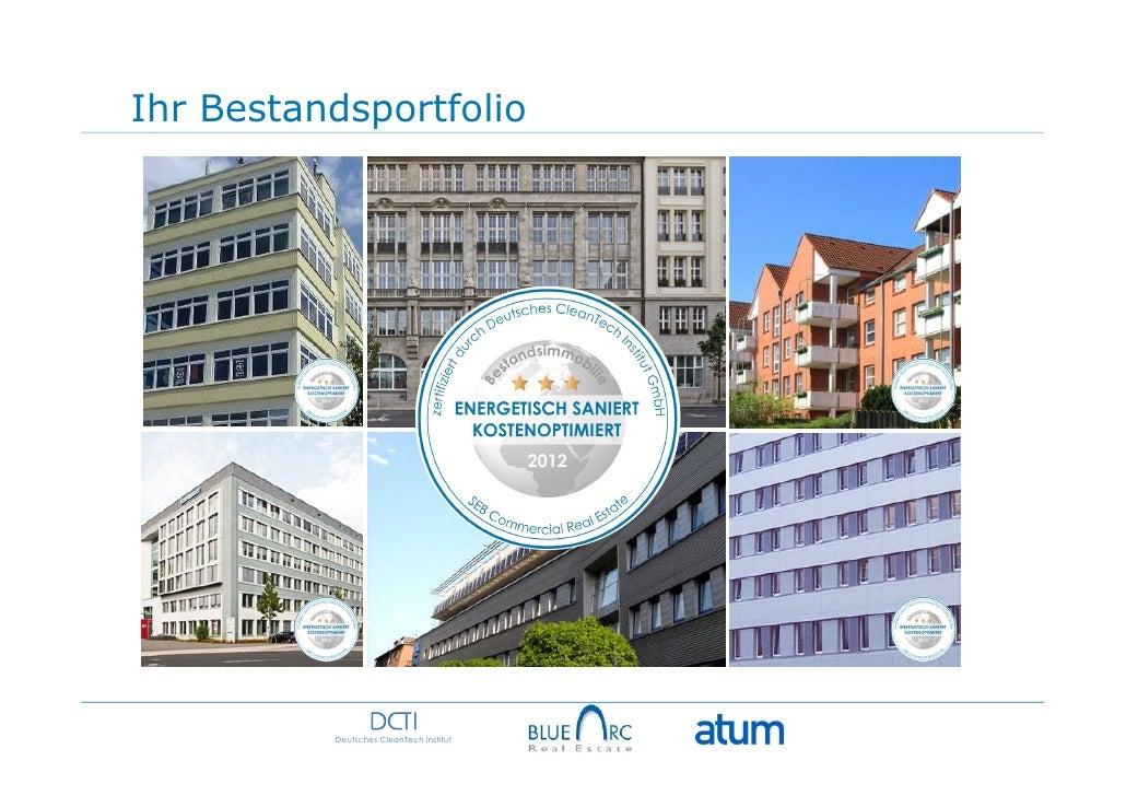 Ihr Bestandsportfolio          Deutsches CleanTech Institut