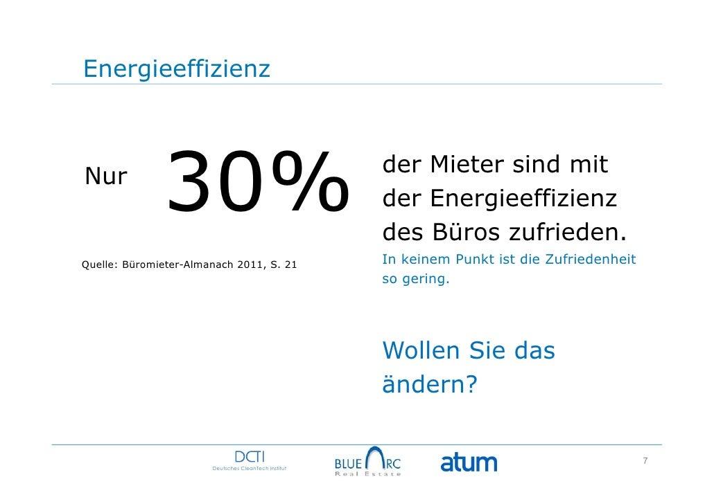 EnergieeffizienzNur              30%                                     der Mieter sind mit                              ...