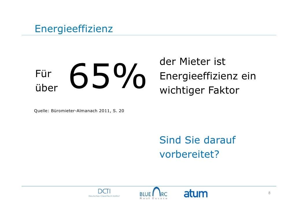 Energieeffizienz              65%                                                      der Mieter istFür                  ...