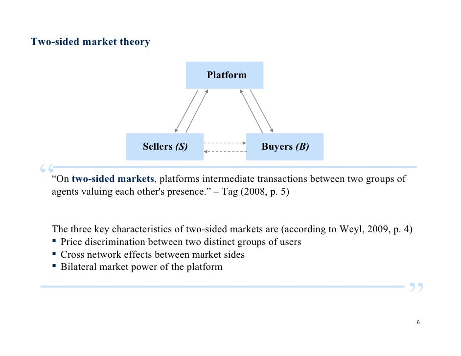 A price theory of multi sided platforms