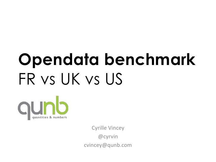 Opendata benchmarkFR vs UK vs US         Cyrille Vincey            @cyrvin      cvincey@qunb.com