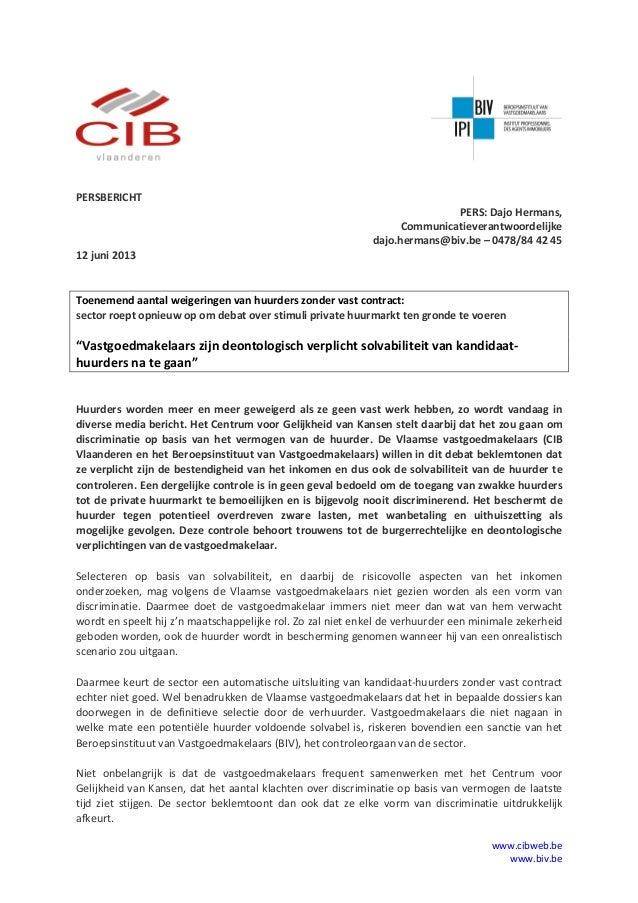 www.cibweb.bewww.biv.bePERSBERICHTPERS: Dajo Hermans,Communicatieverantwoordelijkedajo.hermans@biv.be – 0478/84 42 4512 ju...