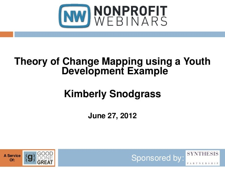 Theory of Change Mapping using a Youth               Development Example              Kimberly Snodgrass                  ...