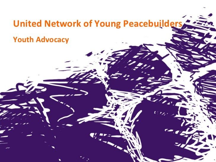 United Network of Young PeacebuildersYouth Advocacy