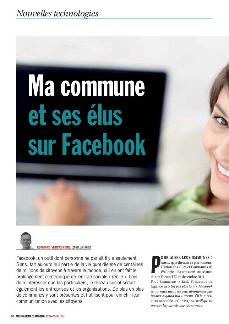Nouvelles technologies           Ma commune           et ses élus           sur Facebook                  EDOUARD VERCRUYS...