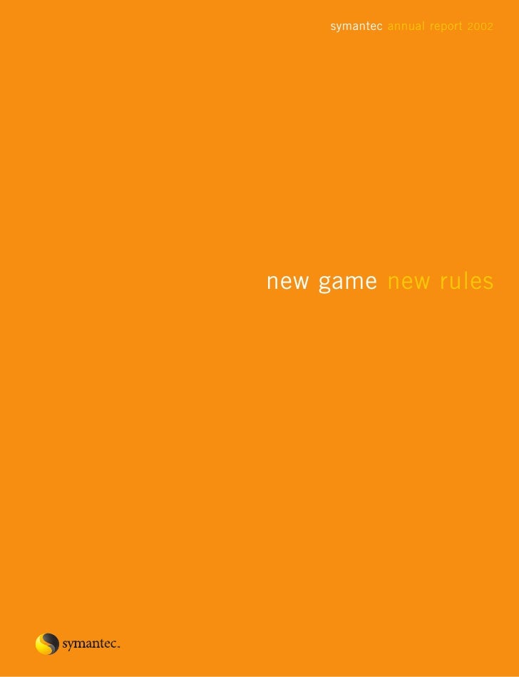 symantec annual report 2002     new game new rules