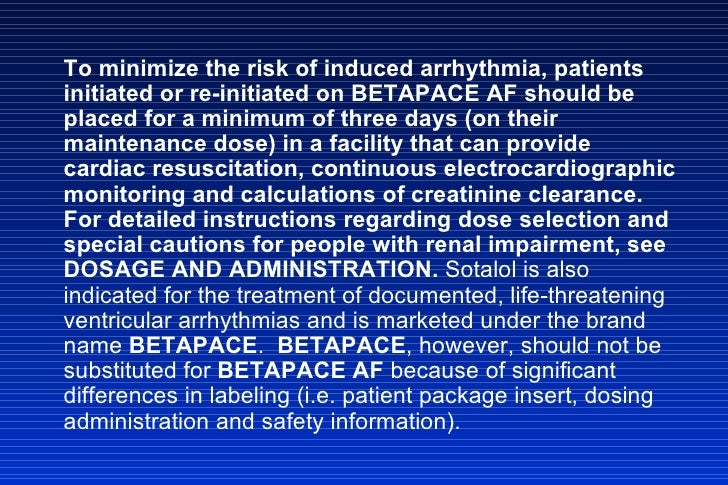 Betapace Af And Betapace