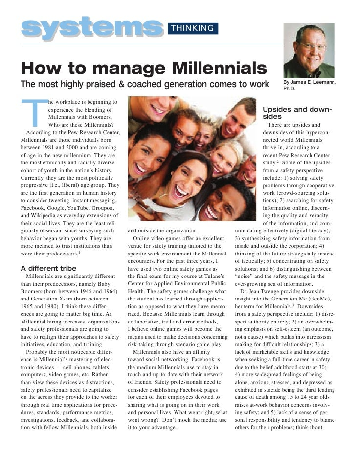 systems                                                         THINKINGHow to manage Millennials                         ...