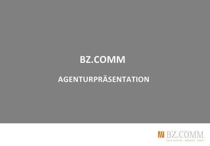 BZ.COMMAGENTURPRÄSENTATION