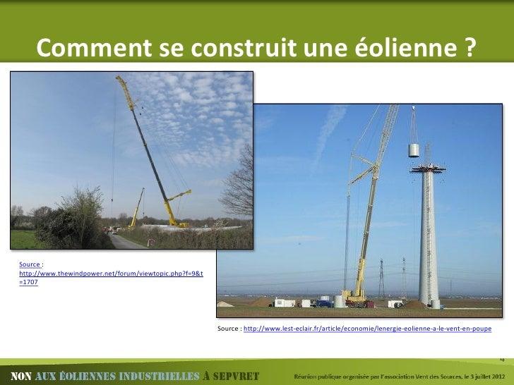 Non aux oliennes sepvret pr sentation r union publique - Comment fonctionne une eolienne ...