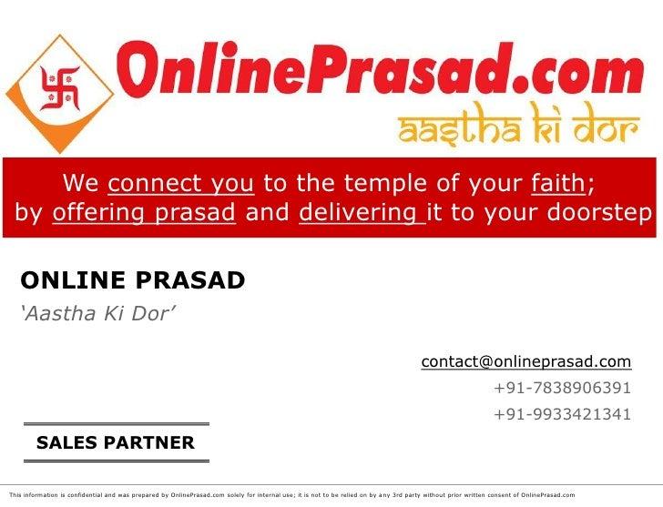 OnlinePrasad.com partner with us