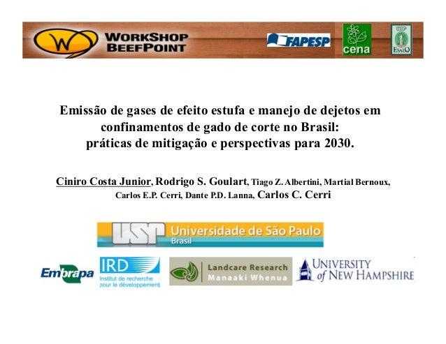 Emissão de gases de efeito estufa e manejo de dejetos em      confinamentos de gado de corte no Brasil:    práticas de mit...