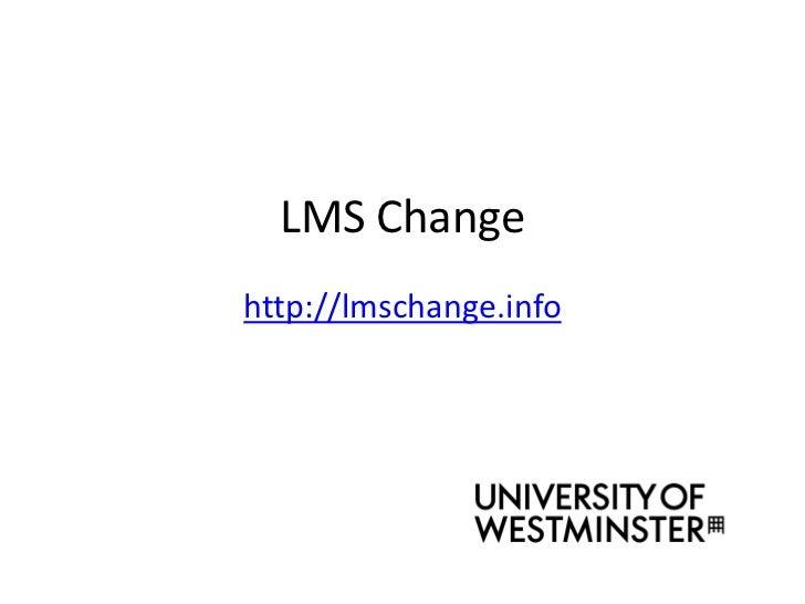 LMS Changehttp://lmschange.info