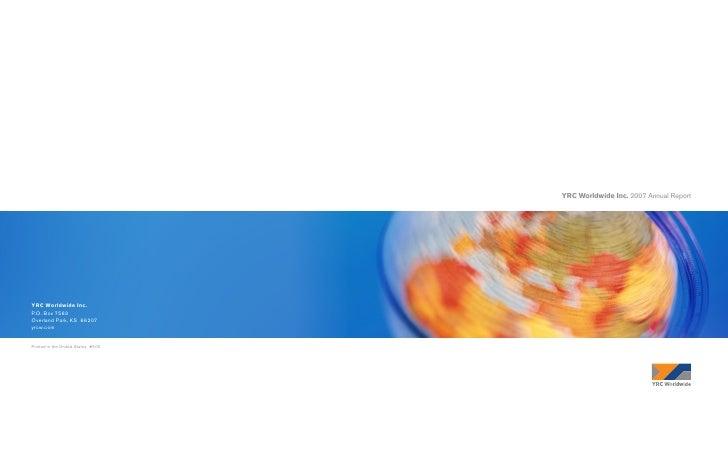 YRC Worldwide Inc. 2007 Annual Report