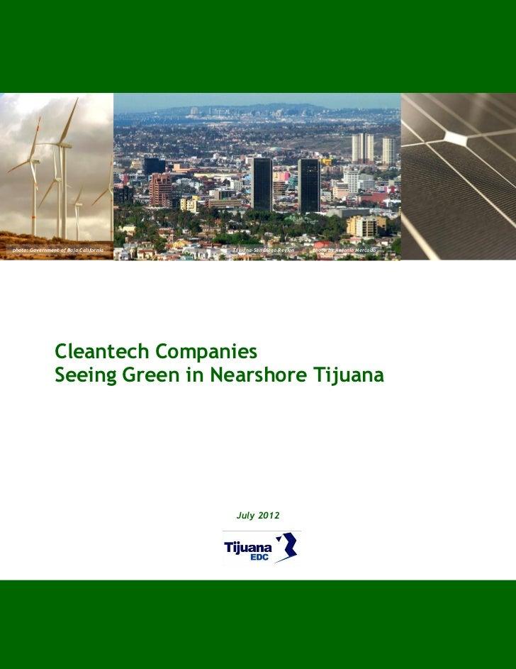 photo: Government of Baja California   Tijuana-San Diego Region   photo by Antonio Mercado                Cleantech Compan...