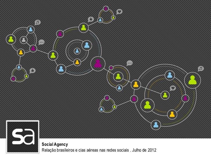 Social AgencyRelação brasileiros e cias aéreas nas redes sociais . Julho de 2012