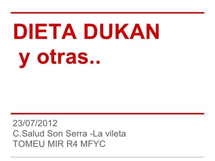120723 Dieta Dukan Y Otras Pdf