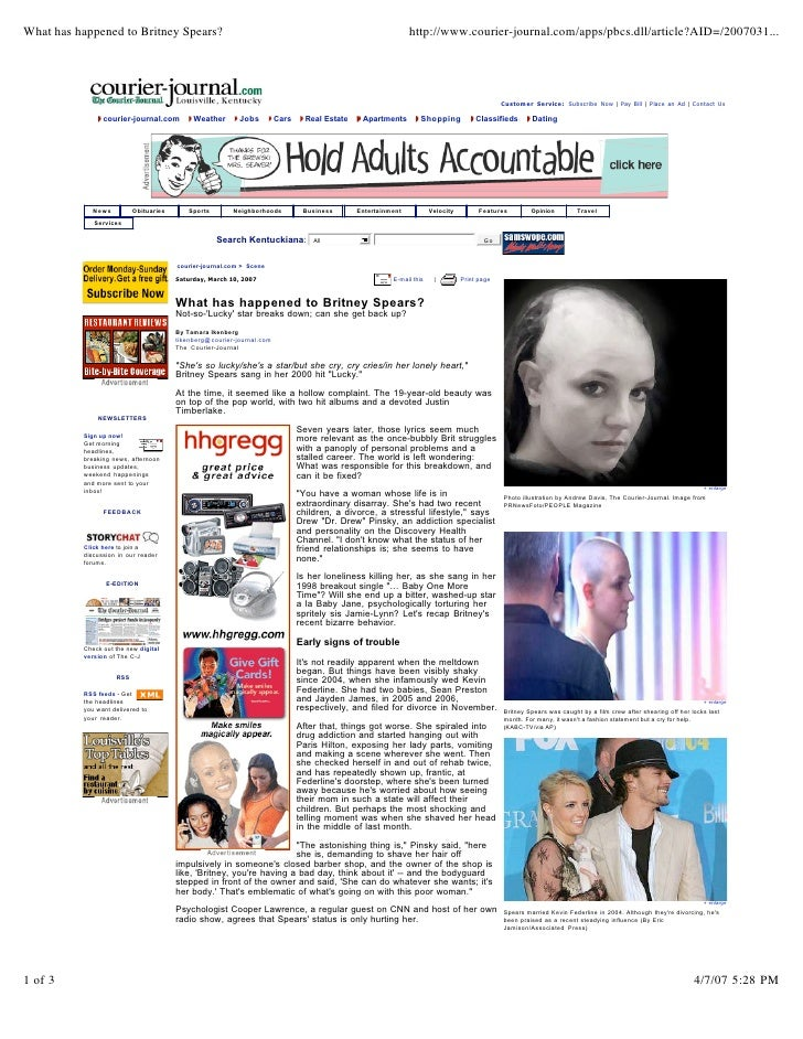 What has happened to Britney Spears?                                                                          http://www.c...