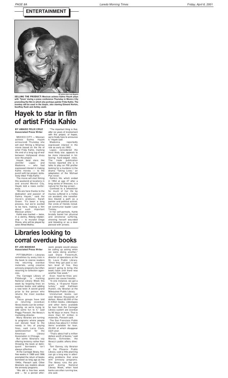 PAGE 8A                                                                                          Friday, April 6, 2001    ...