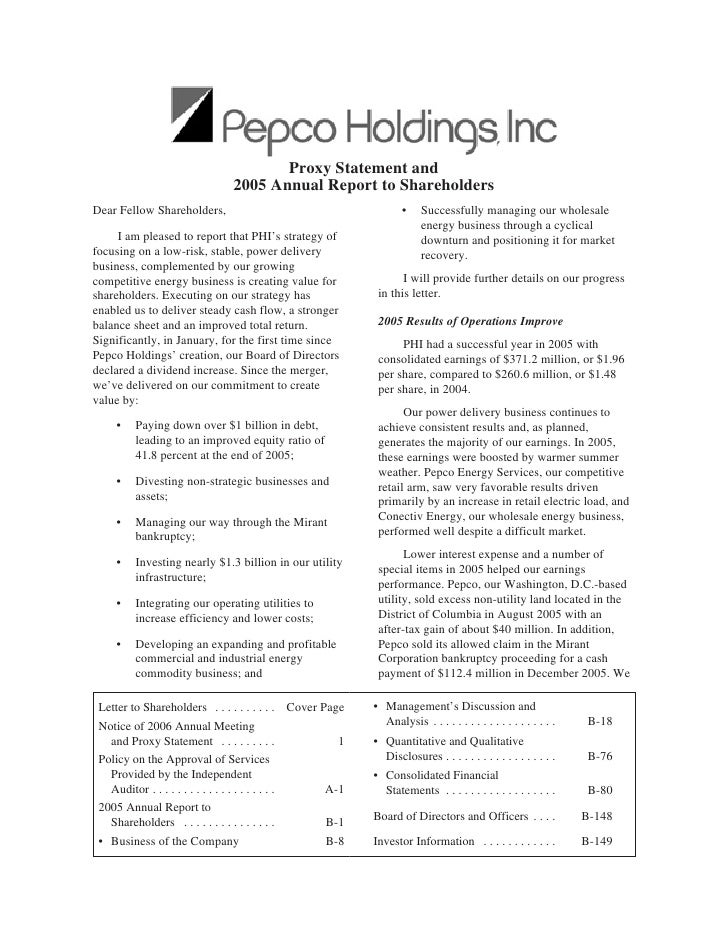 Proxy Statement and                               2005 Annual Report to Shareholders Dear Fellow Shareholders,            ...