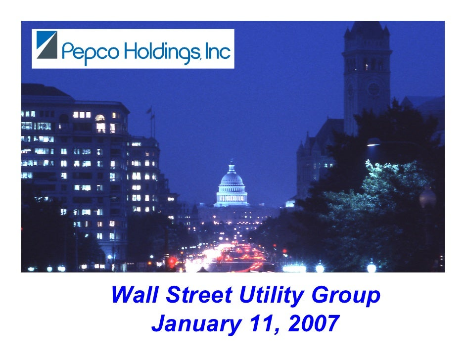 Wall Street Utility Group    January 11, 2007