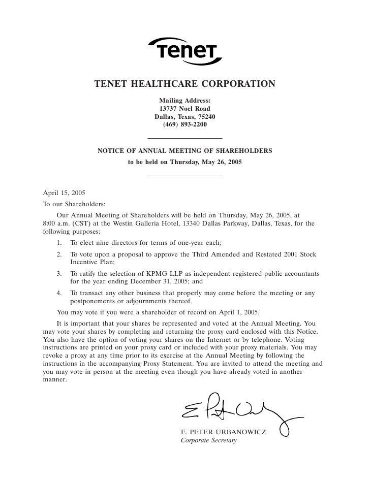 31MAR200405230303                   TENET HEALTHCARE CORPORATION                                       Mailing Address:   ...