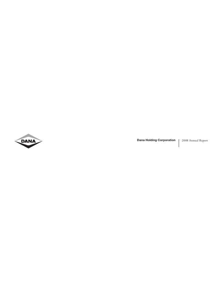 Dana Holding Corporation   2008 Annual Report