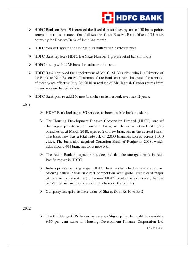 project report on selection and recrueitment in hdfc bank A project report on organization study of hdfc bank submitted in   ø he takes the decision related to the recruitment, selection and training of.