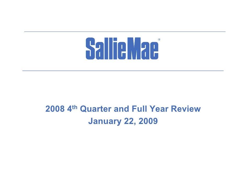 2008 4th Q          Quarter and Full Year Review              t     d F ll Y    R i            January 22, 2009