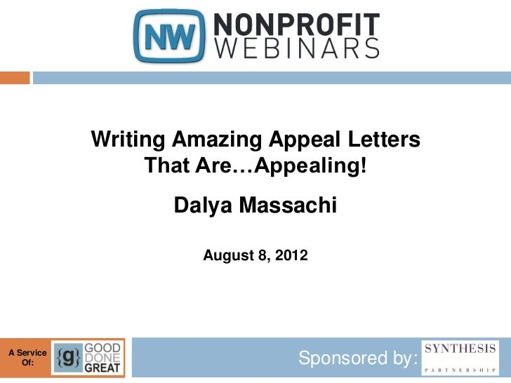 Writing Amazing Appeal Letters That Are Appealing